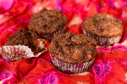 Muffiny-czekoladowe-z-wiśniami