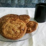 Cookies z rodzynkami w rumie
