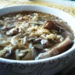 Japońska zupa z grzybkami shiitake