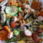 Patelnia z warzywami i Berlinkami