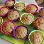 Muffinki marchewkowe z orzechami i wiórkami kokosowymi