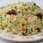 Ryż z łososiem w pietruszkowym pesto