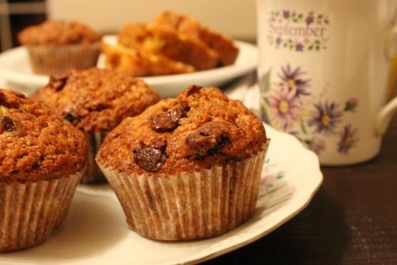 Muffinki z dynią, czekoladą i żurawiną