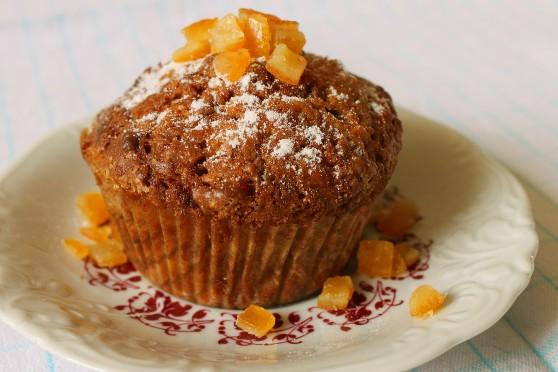 Muffinki z dynią i skórką pomarańczową