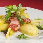 Ziemniaki z cytryną i rozmarynem + roladki z fasolki szparagowej