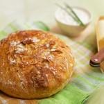 Chleb z chrupiącą skórką bez zagniatania