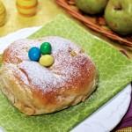 Pieczone oponki korzenne z jabłkami