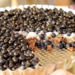 Tarta jagodowa na czekoladowym spodzie z musli
