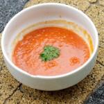 Zupa-krem z czerwonej soczewicy i pomidorów