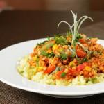 Włoska potrawka drobiowo-warzywna na kaszy jaglanej