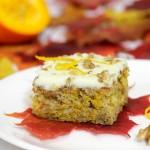 Ciasto dyniowe ze skórką pomarańczową i orzechami