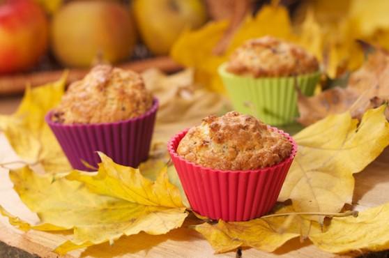 Korzenne muffinki z jabłkami