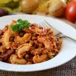 Makaron po hiszpańsku (z chorizo i pomidorami)
