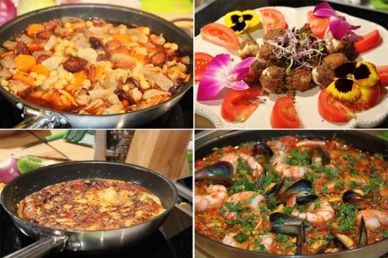 Dania kuchni hiszpańskiej - gulasz madrycki, tapas, tortilla de patatas i paella marinara