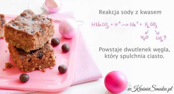 Środki spulchniające - reakcja sody z kwasem