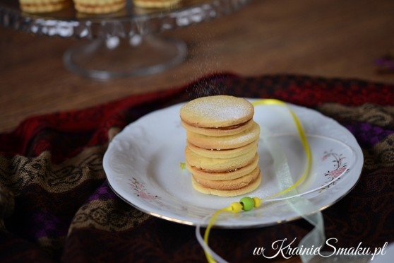 Alfajores czyli ciasteczka kukurydziane z kajmakiem
