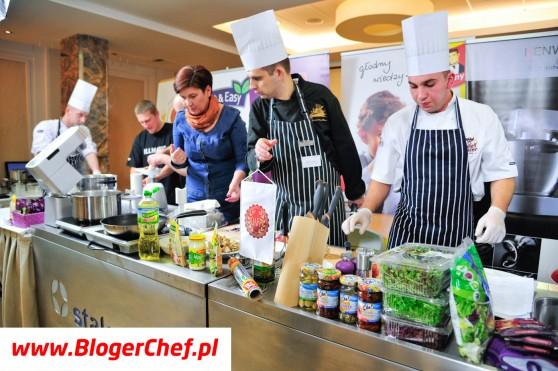 Interaktywny pokaz kuchni śląskiej Dawida Pietrasza i kucharzy z Hotelu Szafran****