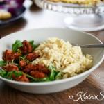 Polędwica wieprzowa w marynacie pomidorowej + mac&cheese z Rubinem