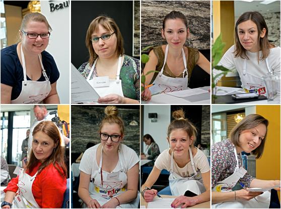 Uczestnicy II półfinału BlogerChefa przy teście wiedzy