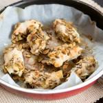 Kurczak w panierce z pestek dyni, ziaren słonecznika i płatków migdałowych