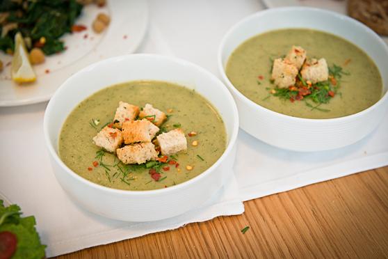Zupa-krem z młodej kapusty i koperku