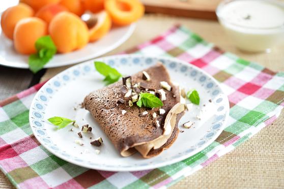 Naleśniki czekoladowo-miętowe