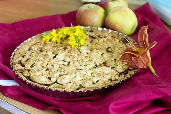 Tarta z Nutellą i jabłkami
