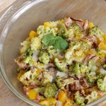 Zapiekanka z kaszą jaglaną, szynką i brokułami