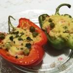 Papryka faszerowana kuskusem z balsamicznym sosem pomidorowym