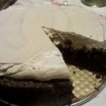 Ciasto czekoladowe z whisky i śmietanową masą cappuccino