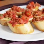 Bruschetta z pomidorami1 150x150 Tortille na maślance z serkiem chrzanowym i wędzonym łososiem