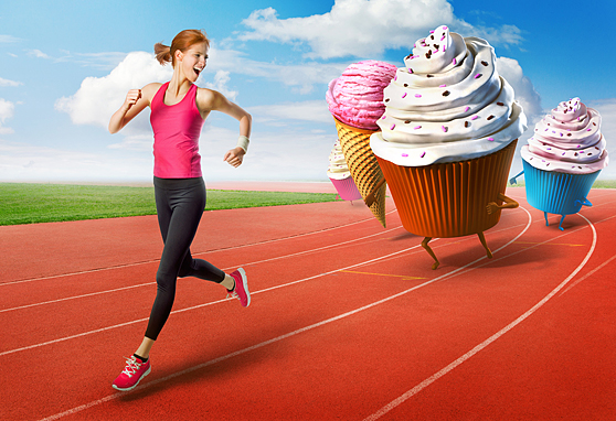 Uciekaj od słodyczy