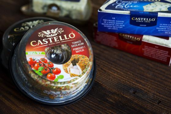 Castello z pomidorami i bazylią