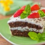 Mini torcik czekoladowo-orzechowy