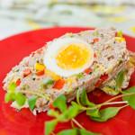 Pasztet z warzywami i jajkiem a'la pieczeń rzymska (z mikrofalówki)