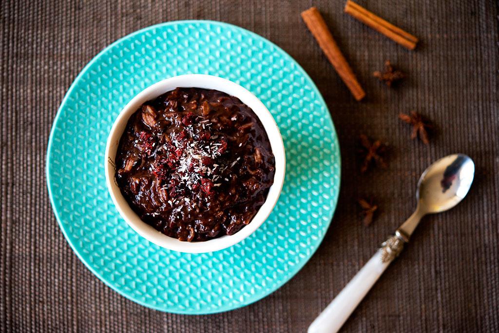 Czekoladowo-korzenny pudding ryżowy