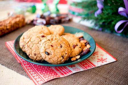 Cookies z żurawiną i fistaszkami