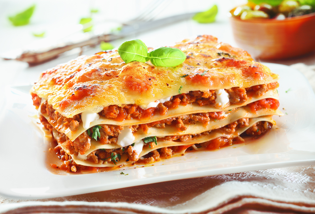 Lasagne z serkiem kozim