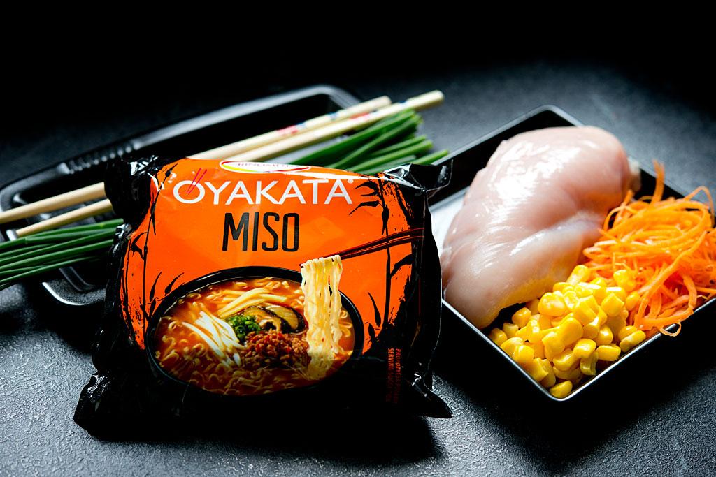 Miso z kurczakiem i warzywami